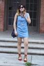 Light-blue-chambray-finders-keepers-the-label-dress-tan-silk-h-m-scarf