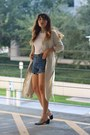 light pink cut out shellys london boots - beige trenchcoat H&M coat