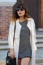 Black-striped-forever-21-dress-ivory-trench-coat-h-m-coat