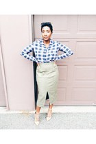 midi skirt asos skirt - heels shoes - Urban Outfitters shirt