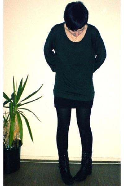 H&M dress - Drykorn shirt - c&a boots