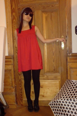 Zara dress - Topman hat - H&M shoes