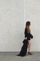 black Prada bag - black Zara shorts