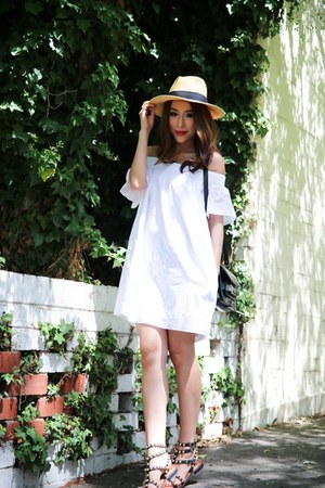 neutral straw hat French Connection hat