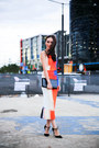 Carrot-orange-manning-cartell-dress-black-jimmy-choo-heels