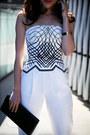 White-tailored-sass-bide-pants-white-bustier-sass-bide-top