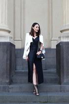 black Ginger & Smart dress - white Helmut Lang jacket - black Chanel bag