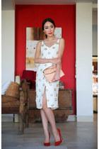 ivory virgos lounge dress - light pink clutch Alexander Wang bag
