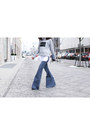Navy-flares-alice-mccall-jeans-heather-gray-printed-viktoria-woods-sweater