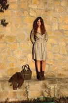 hoss intropia boots - hoss intropia dress - nice thins bag
