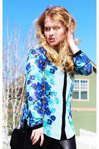 aquamarine LC by Lauren Conrad blouse - black Express leggings
