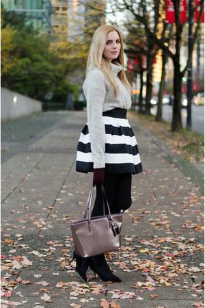 white striped Target skirt - black mini skirt Target skirt