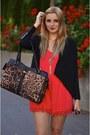 Black-blazer-similar-jacket-brown-leopard-print-aldo-bag