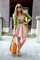trench Forever 21 jacket - Suzy Shier dress - studded Steve Madden bag