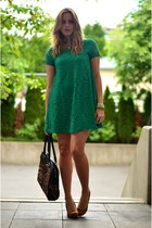 green lace Sheinside dress - camel leopard print Similar Bag bag