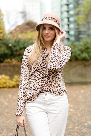 black button down Similar Shirt shirt - camel leopard print Similar Shirt shirt