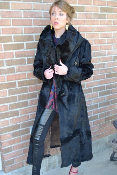 Vintage Clothing coat - H&M Trend leggings - Vintage  Etsy shirt