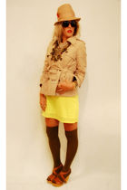 gold Shabby Apple dress - brown Target jacket - brown Steve Madden shoes