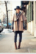 Jessica Simpson boots - Opening Ceremony coat - Urban Outfitters hat - Silence a