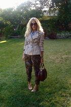 beige Target jacket - black vintage pants - blue vintage shirt - brown vintage p