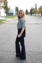 vintage blazer - American Apparel shirt - J Brand jeans