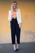 thrifted belt - Urban Outfitters blazer - Gap shirt - thrifted pants