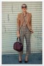 Thrifted-vintage-blouse-thrifted-pants-camel-vintage-liz-claiborne-blazer-