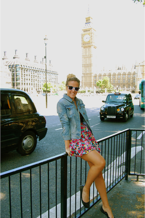 quiksilver womens jacket - vintage skirt - Target sunglasses - Steve Madden shoe