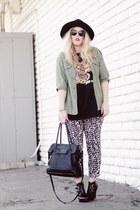 black Target hat - black JCPenney pants