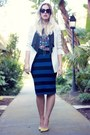 Ivory-lovers-friends-blazer-blue-target-shirt-navy-forever-21-skirt