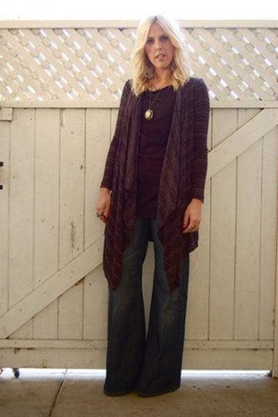 forever 21 coat - American Apparel shirt - H&M jeans