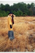 Target hat - vintage coat - thrifted skirt