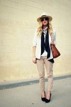 Cynthia Rowley via TJ Maxx heels - H&M hat - banana republic vest