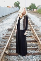 H&M dress - vintage vest - Habit necklace