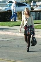 vintage sweater - vintage dress - Steve Madden shoes