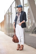 white Joes Jeans jeans - navy Crossroads Find blazer - white J Crew shirt