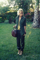 green vintage blouse - green Crossroads Trading Co jacket - green mayle pants -