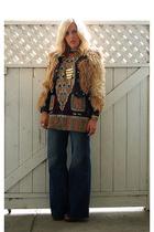 vintage coat - vintage shirt - H&M jeans - Steve Madden shoes