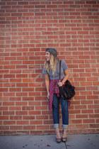 heather gray Robin Hoods hat - black Joelle Hawkens bag