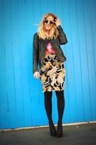 black thrifted skirt - black thrifted jacket