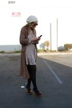 vintage hat - vintage sweater - vintage from Clothing Warehouse dress - Steve Ma