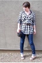 American Eagle shirt - Bakers shoes - skinny jeans Bullhead jeans