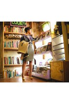 camel Zara coat - Topshop dress - owl whistles purse - harness BCBG belt