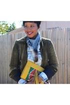 Bershka blouse - Pour La Victoire shoes - Diesel jacket - madewell scarf