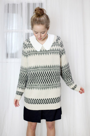 ivory pattern jumper THE WHITEPEPPER jumper