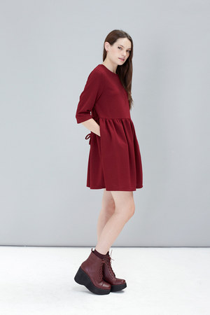 black THE WHITEPEPPER boots - brick red THE WHITEPEPPER dress