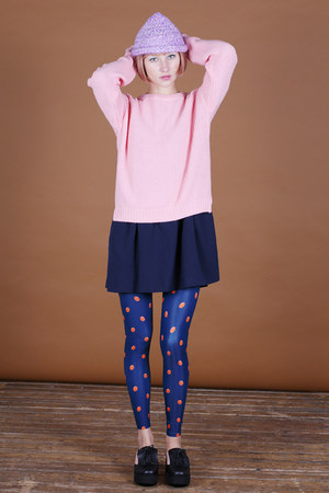 light pink THE WHITEPEPPER jumper - navy THE WHITEPEPPER dress