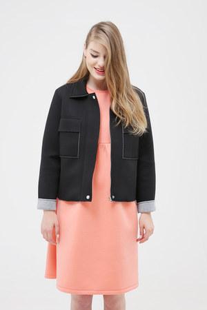 coral THE WHITEPEPPER dress - black THE WHITEPEPPER jacket