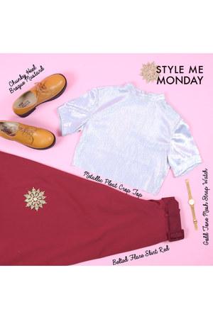 ruby red THE WHITEPEPPER skirt - mustard THE WHITEPEPPER shoes