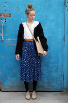 black vintage THE WHITEPEPPER cardigan - tan brogues THE WHITEPEPPER shoes